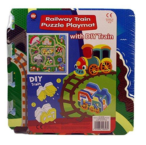 A to Z 09328 Pochette Gare de Puzzle Tapis de Jeu avec DIY Train