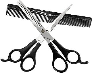 ست قیچی مو ، قیچی موی 6.6 اینچی حرفه ای ، قیچی نازک کننده مو قیچی ، مناسب برای آرایشگاه های مبتدی ، خانواده ها ، حیوانات خانگی