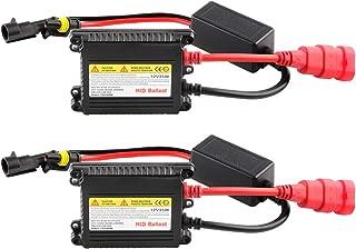 2Pcs Slim HID Ballast 35W 12V Car HID Xenon Ballast Replacement for H1 H3 H7 H8 H9 H11 9005 9006 H4 Headlight Xenon Lamp Bulb