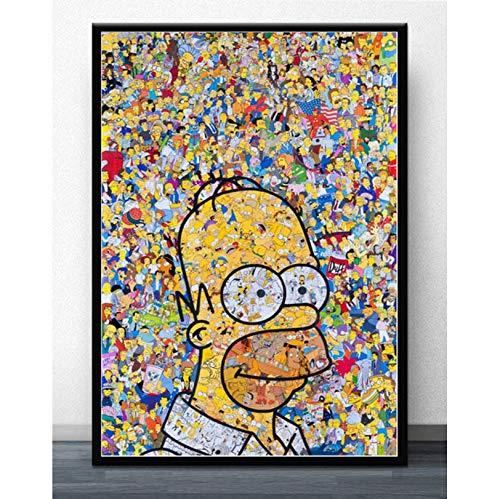 MZCYL Puzzles 1000 Pièces Assemblage Image S Art Les Simpsons Crier Anime Bande Dessinée Bande Dessinée Simpson pour Adultes Enfants Jeux Jouets Éducatifs MA1319