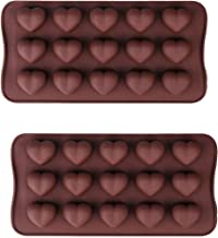 Chocolate Mold, 2Pieces Silicone Model for Party Chocolate Candy Handmade DIY, Brown