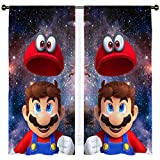 SSKJTC Super Mario Galaxy Collection - Cortinas aisladas supergruesas para sala de estar (140 x 100 cm)