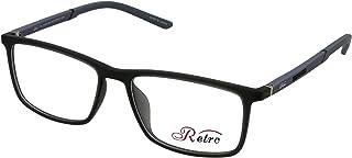 RETRO Unisex Spectacle Frames Rectangular 3007 M.Dark Grey/Light Grey