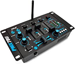 Wireless DJ Audio Mixer Machine - 3 Channel Bluetooth Compatible DJ Controller Sound Mixer System with Mic-Talkover, USB R...