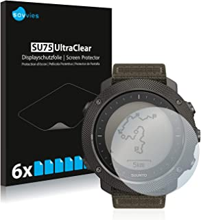 Savvies 6x Schermbeschermer compatibel met Suunto Traverse Alpha Screenprotector ultra transparant