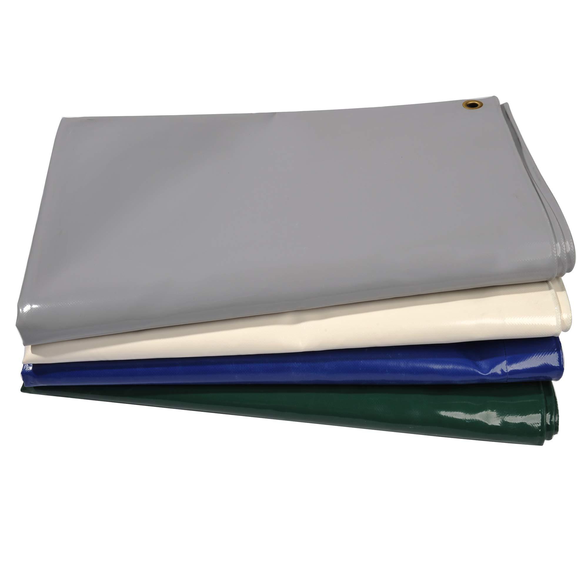 Nemaxx Lona de protección PLA812 Premium 800 x 1200 cm; Blanco con Ojales, PVC de 650 g/m², Cubierta, Lona de protección. Impermeable y a Prueba de desgarros, 96m²: Amazon.es: Jardín