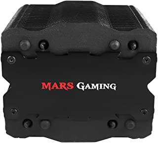 Mars Gaming MCPU2 - Disipador gaming para ordenador (ventilador 92mm, tecnología PWM, tratamiento de nanocerámica, ventilador en el interior de la torre, 4 heatpipes) color negro