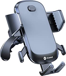 2021 Upgraded Auto Clamp Cell Phone Holder for Car, VICSEED Car Phone Holder Mount Ultra Stable Car Phone Mount Strong Grip Air Vent Phone Car Holder Case Friendly Fit for iPhone 12 and All Smartphone
