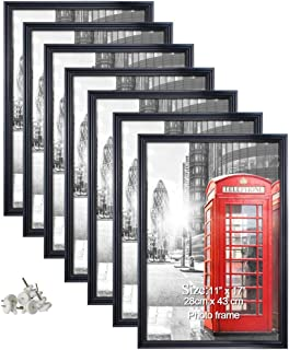Artsay 11x17 Poster Picture Frames Black Photo Frame 11 x 17 Set for Wall Hanging, 7 Pack