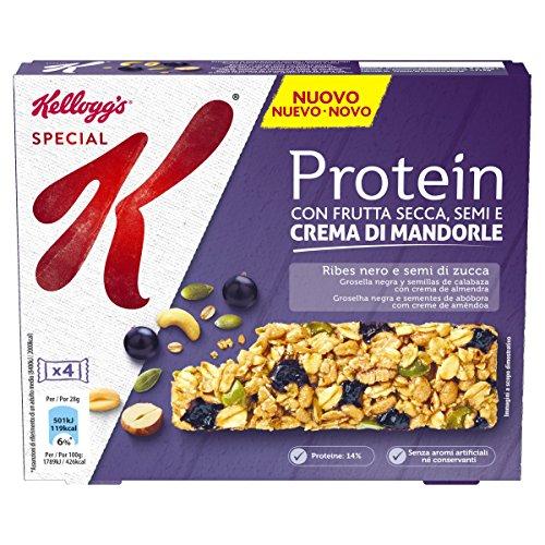 Kellogg's Special K Protein Baretta Ribes Nero e Semi di Zucca, 4 x 28g