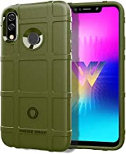Mobile phone case Full Coverage Shockproof TPU Case for LG W30(Black) (Color : Army Green)