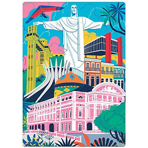 Postais do Brasil - Monumentos - Quebra Cabeça 500 peças Nano