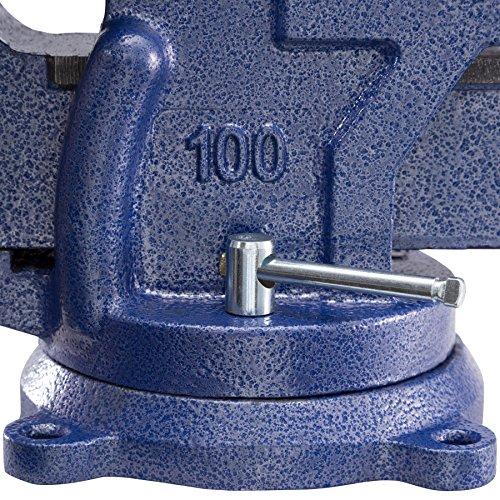 TecTake Schraubstock Amboss 360° drehbar mit Drehteller für Werkbank – diverse Größen – (Spannweite 125 mm | Nr. 401124) - 8