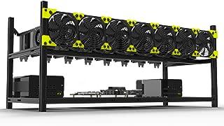 8 GPUアルミニウムスタック可能な鉱山ケースリグオープンエアーフレーム(ETH)/ ETC/ZCash/Monero/BTC優れた空気対流設計