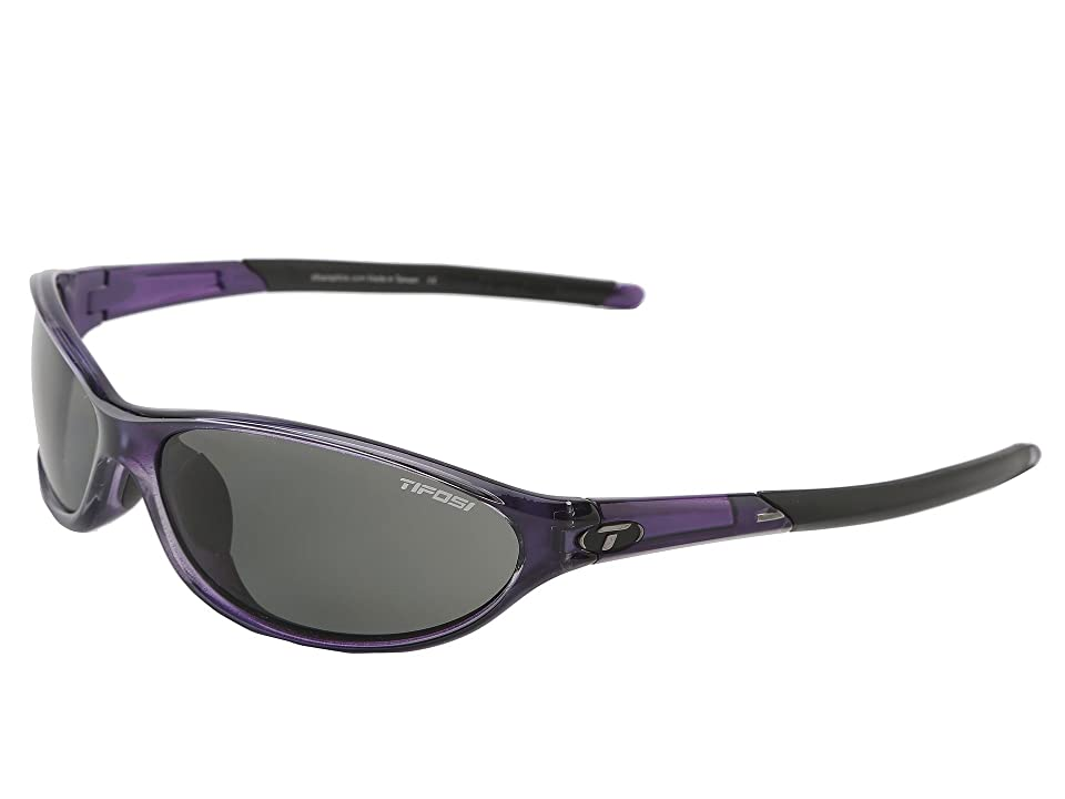 Tifosi Optics Alpetm 2.0 Polarized (Crystal Purple/Smoke Polarized Lens) Athletic Performance Sport Sunglasses