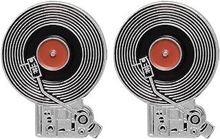 CoSunny - Tocadiscos de Vinilo, 2 Unidades, Broche esmaltado, Pins, Accesorios, Insignias, Regalos