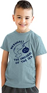 Youth Narwhals Unicorns of The Sea Funny Im Real T Shirt for Kids
