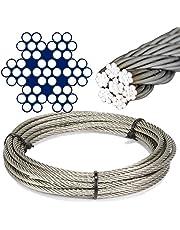 10 M de acero inoxidable - de alambre cuerda de 7 x 7 medio suave d=1 mm - acero inoxidable A4 cable de acero