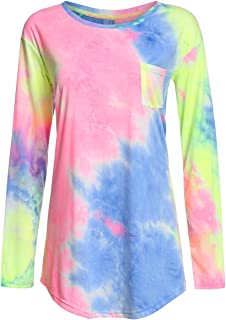 Women's Loose Long Sleeve Comfy Swing Tunic Top Blouse T-Shirt Tee Tshirt