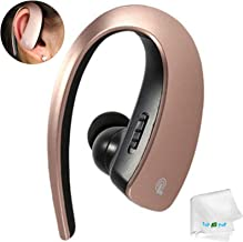 Bluetooth Headset Stereo Music Bluetooth Earphone Wireless Headphone Voice Command Earpiece with Microphone Compatible with Samsung Galaxy S10 S10e S9 S8 S8 Plus Lg Tablets and Other Bluetooth Devices