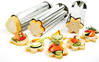 Norpro Tin Canape Bread Molds, Set of 1, 3 pieces