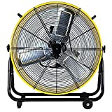 Simple Deluxe HIFANXDRUM24 24 Inch Heavy Duty Metal Industrial Drum Fan, 3 Speed Air Circulation for Warehouse,...