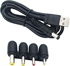 XINYUWIN USB Type-A Male to 5.5mm x 2.1mm Barrel 5V DC Power Cable with 4 Connectors Compatible with Laptop, Notebook, HUB Splitter, Router, LED Lights, USB Speaker
