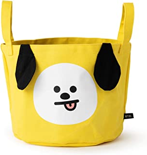 BT21 Official Merchandise by Line Friends - CHIMMY Character Storage Bag, Yellow