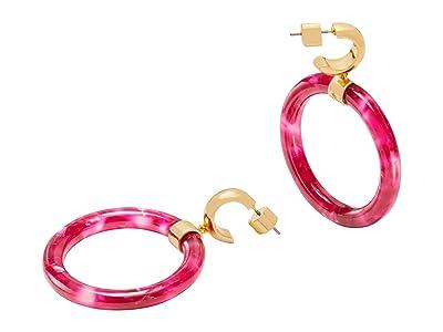 Kate Spade New York Botanical Garden Resin Hoops Earrings (Pink) Earring
