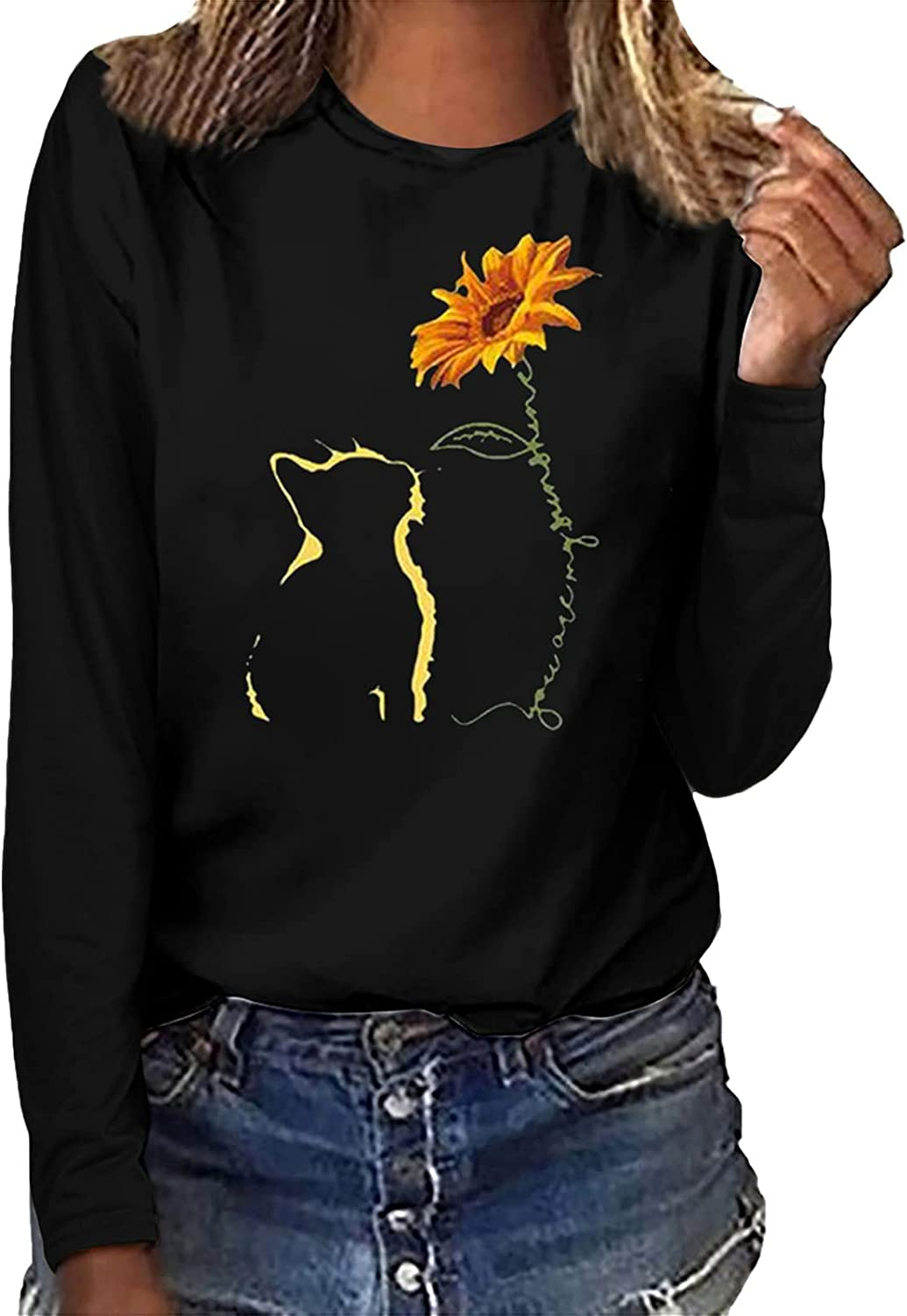 Womens Tops Popular shop is the Online limited product lowest price challenge Women Print Casual Sweatshirt Sleeve Long P Printing