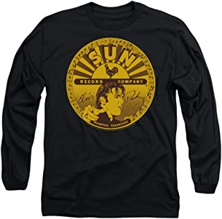 Sun Records Elvis Full-Sun Label Adult Long-Sleeve T-Shirt