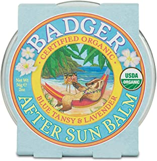 Badger - After Sun Balm, Blue Tansy & Lavender, Rescue Balm, Soothing & Cooling Balm for Tight Dry Skin After Sun Exposure...