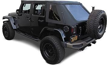 Sierra Offroad 2007-2018 Jeep Wrangler 4DR, Frameless JK Soft Top, 40 mil Press Polish Windows