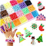 Beetest 3600PCS 24 Colors Perles Recharge Compatible avec Aquabeads, Craft Sticky...