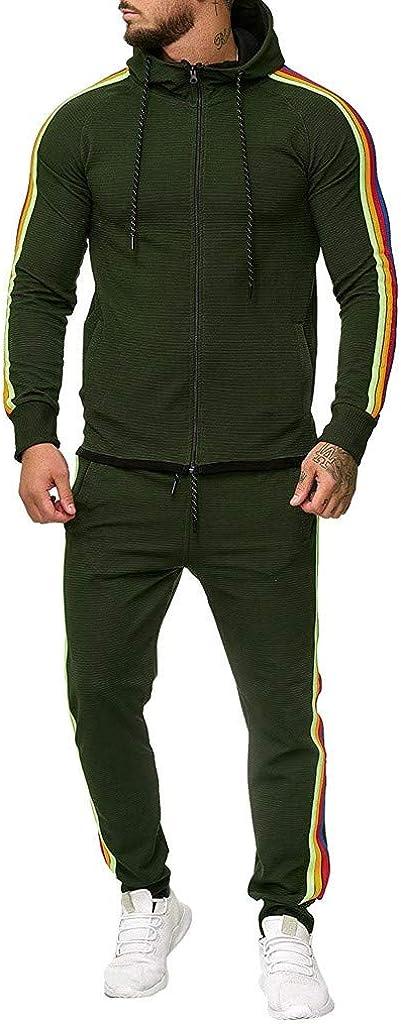 aihihe Mens Tracksuit Plus Size Long Sleeve Athletic Sweatsuits Sports Casual Full Zip Sweatsuit Sweatshirts Pants