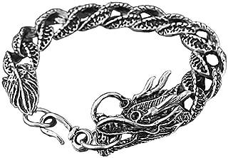 Cuerda de Titanio Plata Pulsera Brazalete para hombres Moda Pulsera Cuerda Marrón Enlazados