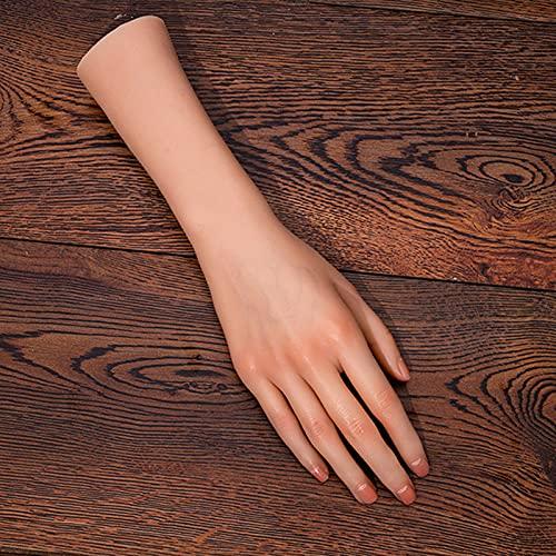 Femme Mannequin en Silicone Main Main de pratique de tatouage pour ongles main mannequin pour affichage bijoux anneau gant Bracelet Mains et doigts d'entraînement