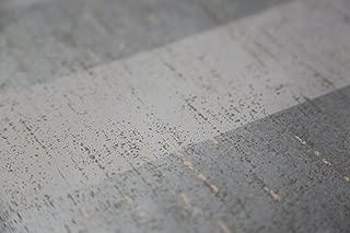 St. James / York Veranda AD8135 Textured Stripe Wallpaper, Silver, Grey