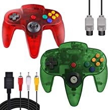$26 » ZeroStory Classic N64 Controller, Wired N64 Controller Joystick with 5.9 Ft N64 AV Cable for N64 Video Game Console (Trans...