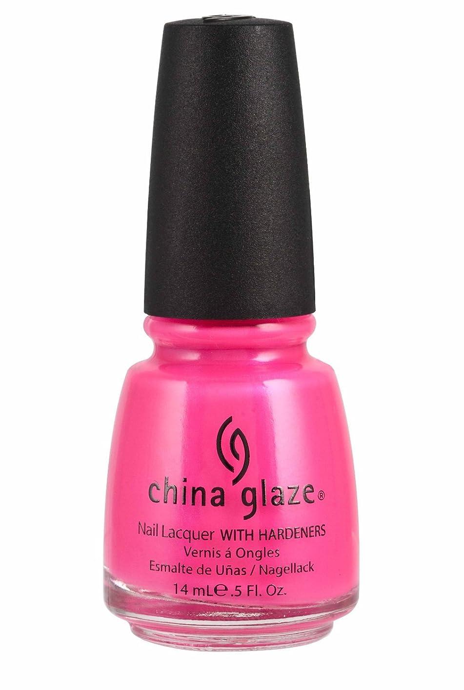平らな休眠敬China Glaze Nail Lacquer 1006 Pink Voltage 70291 (並行輸入品)