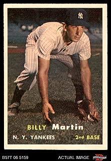 1957 Topps # 62 Billy Martin New York Yankees (Baseball Card) Dean's Cards 5 - EX Yankees
