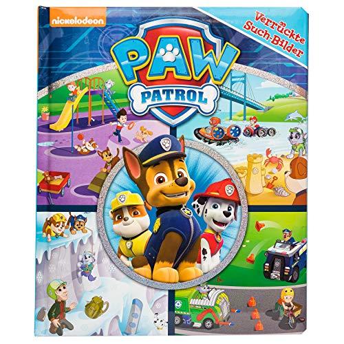 PAW Patrol - Verrückte Such-Bilder - Pappbilderbuch mit Suchaufgaben auf 18 Seiten - Wimmelbuch für Kinder ab 18 Monaten
