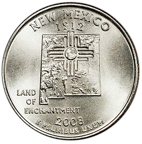2008 P Satin Finish New Mexico State Quarter Choice Uncirculated...