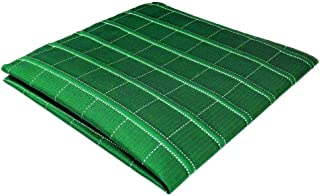 5402384bdb84f Shlax&Wing Green Checkered Mens Pocket Square Unique Design Large 12.6