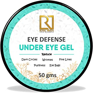 ROYAL NEEDS, Eye cream for dark circles for women and men, anti wrinkle and Puffy eyes, Best natural under eye gel 50gm