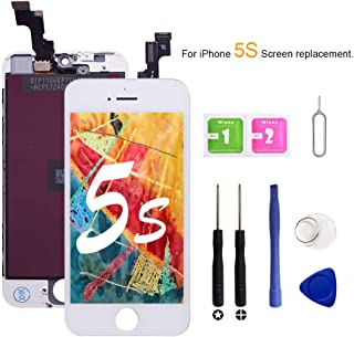 VANYUST for iPhone 5S/5SE Screen Replacement, LCD Display Touch Screen Digitizer Assembly with Tool Kits Compatible for iPhone 5S/5SE White