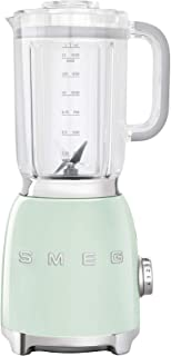 Smeg BLF01PGUK, 50's Retro Style Aesthetic Blender, 1.5 L BPA-free Tritan Jug, Pre-Set Smoothie and Crushed Ice Programme...
