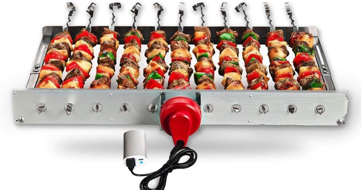 HAOONE Ranking TOP9 Portable Battery Operated Long-awaited Rotisserie Grill Automatic BBQ