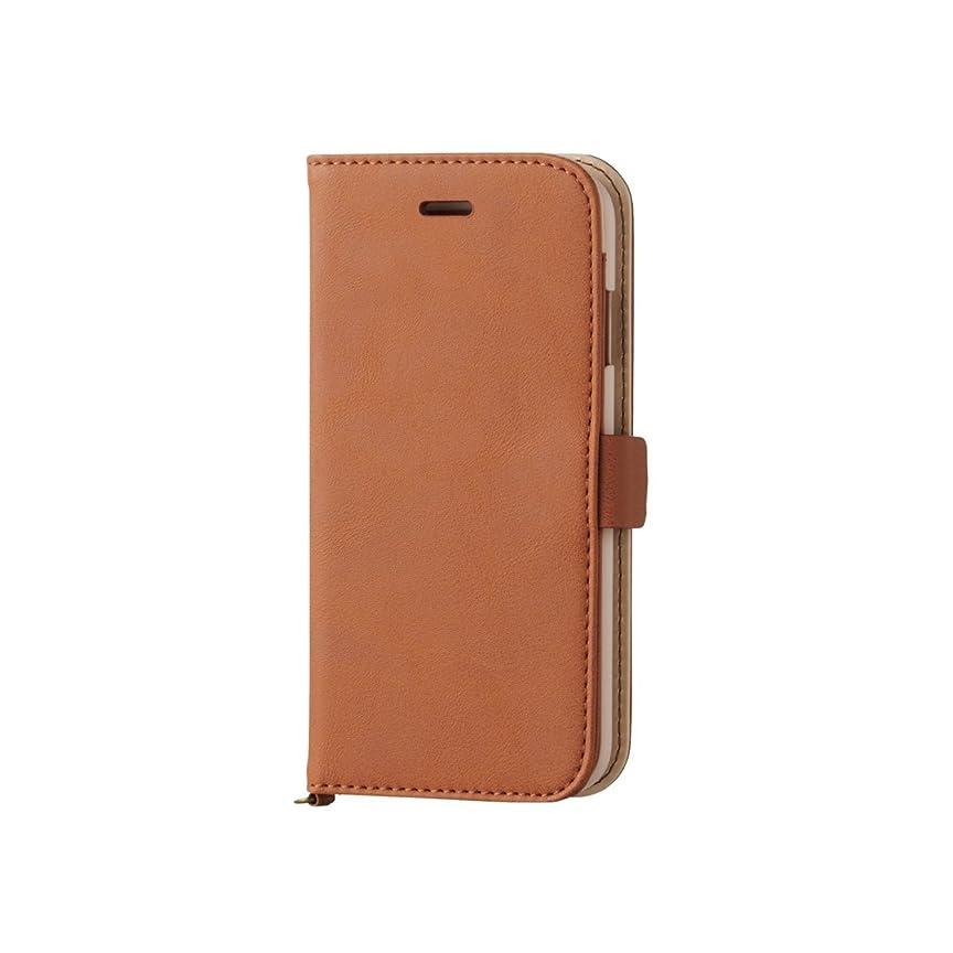 項目どんなときも祝福するELECOM iPhone 6s/6 対応 ケース 手帳型 ソフトレザーカバー 磁石タイプ ブラウン  PM-A15PLFYBR