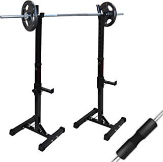 Adjustable Squat Rack - Barbell Bar Squat Stand - Home Gym - Weight Lifting Barbell Set Stand Home Gym Fitness Training Ex...
